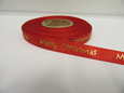 Bright Red 2 or 20 metres 10mm Merry Christmas Satin Ribbon Xmas Roll Craft Double Side